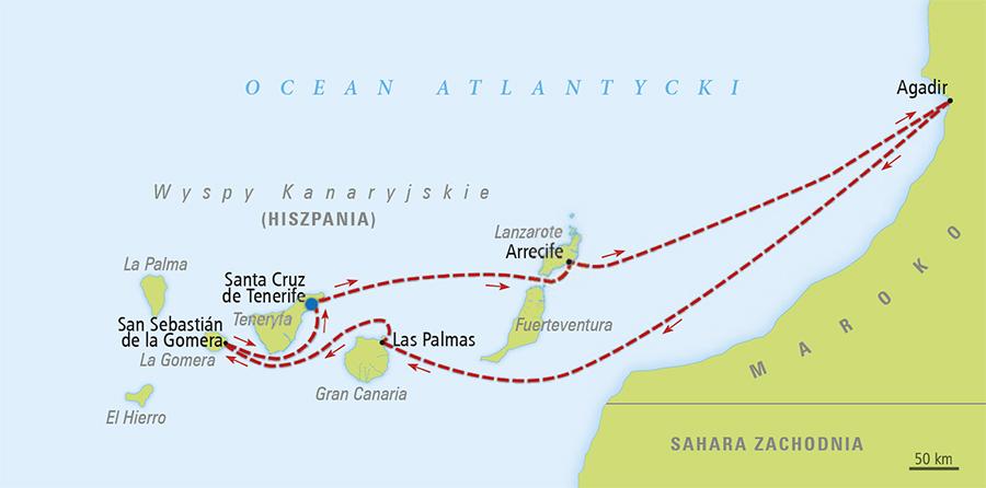 wyspy kanaryjskie mapa Rejs Oko na Maroko   Teneryfa, Wyspy Kanaryjskie   Rejsy, Opinie